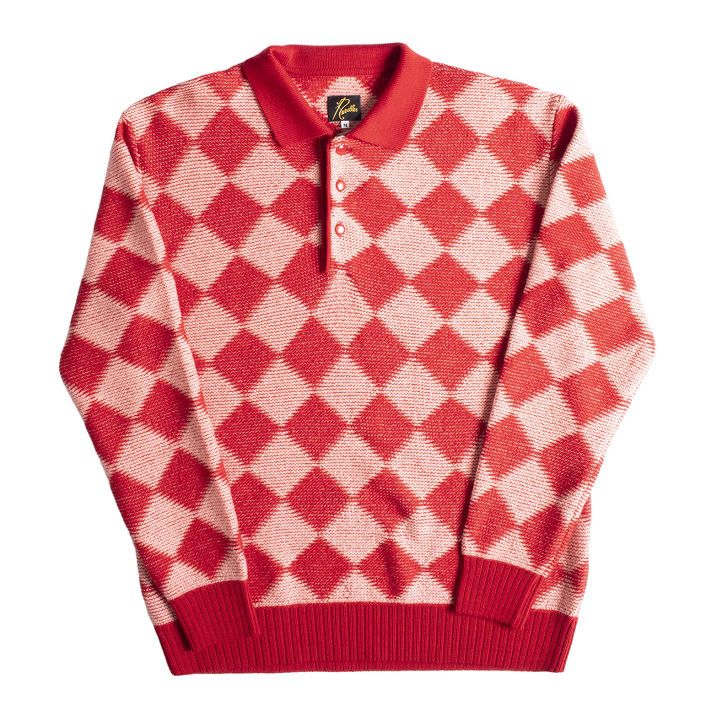 Load image into Gallery viewer, NEEDLES CHECKERED SWEATER RED