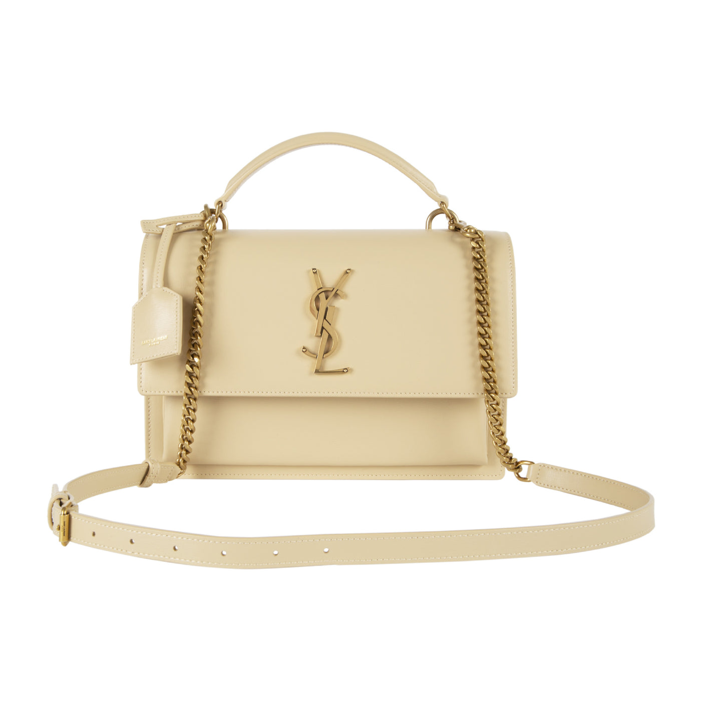"Load image into Gallery viewer, SAINT LAURENT ""SUNSET"" HANDBAG WHITE"
