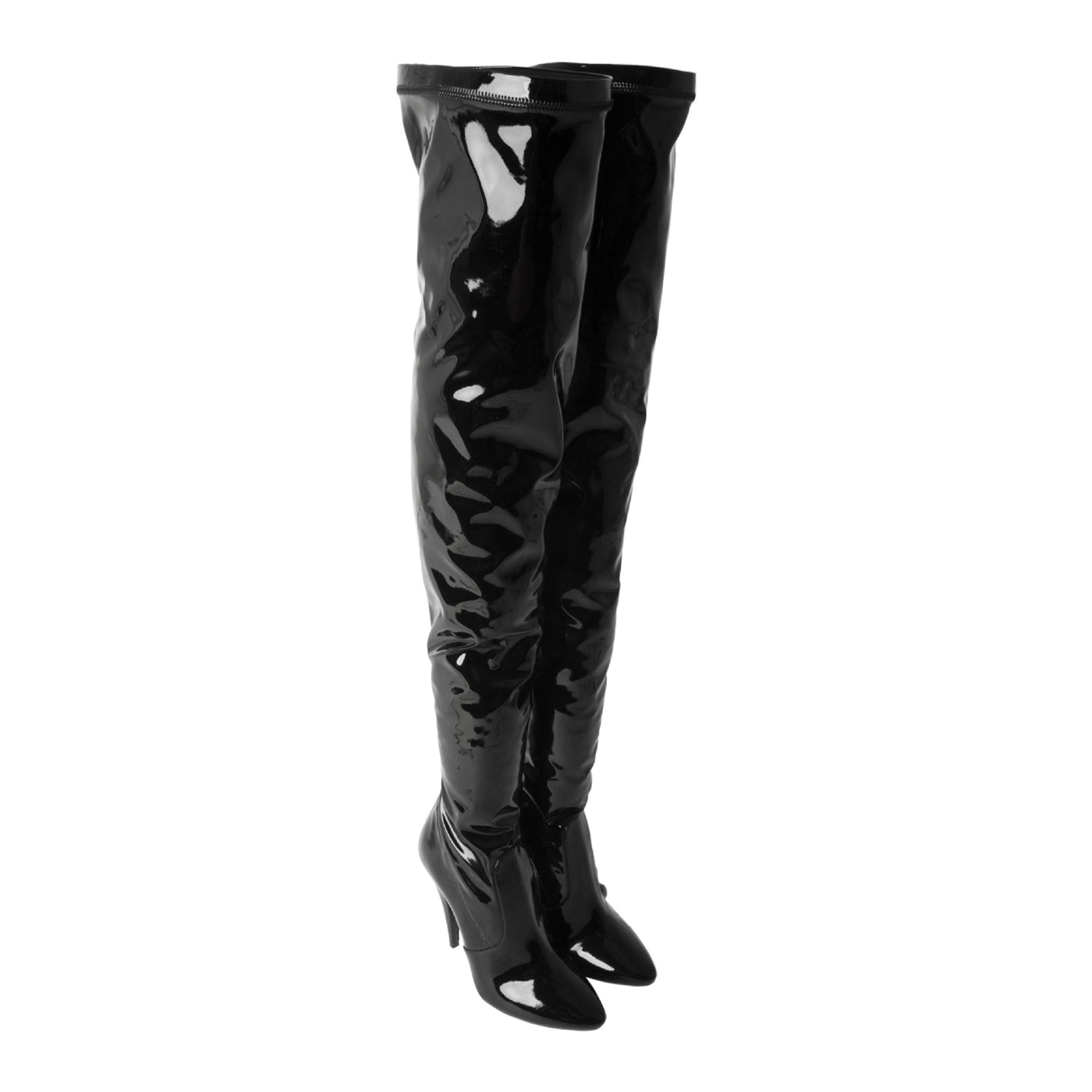 Load image into Gallery viewer, SAINT LAURENT OVER-THE-KNEE BOOTS BLACK