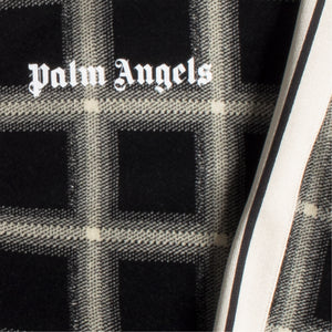 PALM ANGELS CHECK  TRACK JACKET BLACK