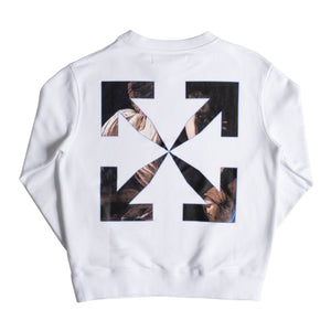 OFF-WHITE CARAVAG SLIM CREWNECK WHITE