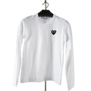 COMME DES GARCONS PLAY LONG-SLEEVE T-SHIRT WHITE