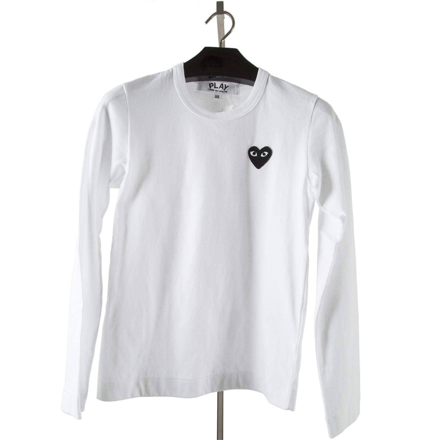 Load image into Gallery viewer, COMME DES GARCONS PLAY LONG-SLEEVE T-SHIRT WHITE