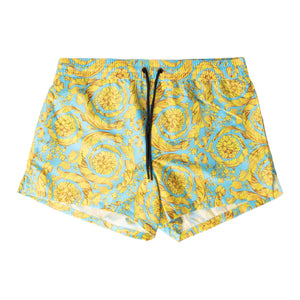 VERSACE SWIM TRUNKS BLUE