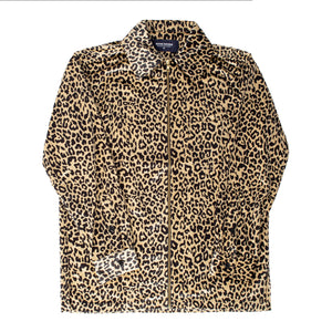 NOON GOONS LEOPARD-PRINT SHIRT NEUTRAL