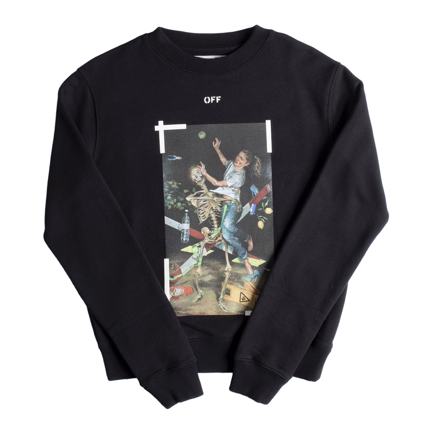 Load image into Gallery viewer, OFF-WHITE PASCAL PRINT SLIM CREWNECK BLACK