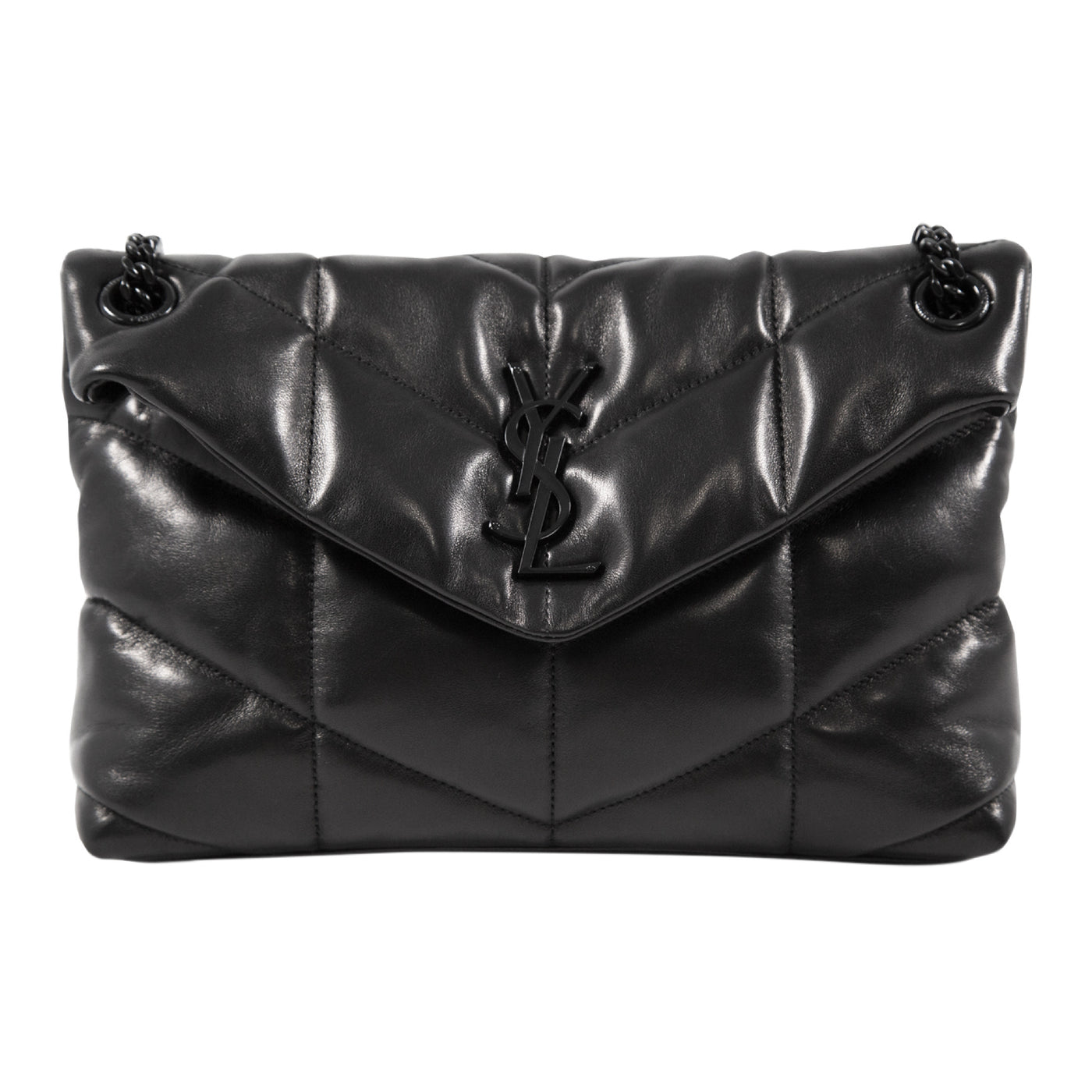 Load image into Gallery viewer, SAINT LAURENT LOULOU SMALL BAG BLACK
