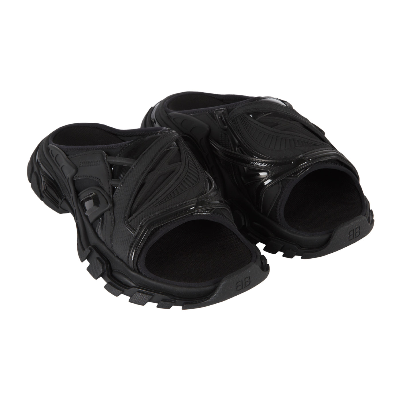 Load image into Gallery viewer, BALENCIAGA TRACK SLIDE SANDAL BLACK