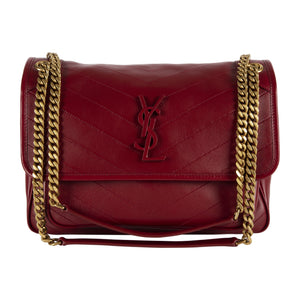 "SAINT LAURENT ""NIKI"" MONOGRAM HANDBAG RED"