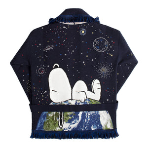 ALANUI SNOOPY SPACE OUT CARDIGAN BLUE