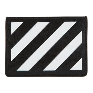 OFF-WHITE DIAG CARDHOLDER BLACK