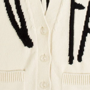 OFF WHITE CARDIGAN WHITE