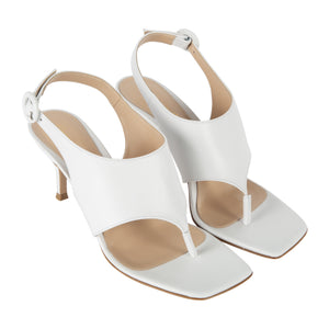 GIANVITO ROSSI THONG SANDALS WHITE
