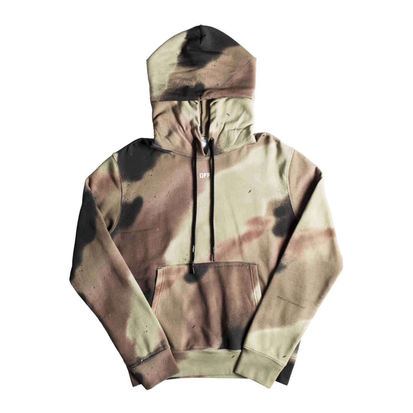 Load image into Gallery viewer, OFF-WHITE CAMO STENCIL SLIM HOODIE GREEN