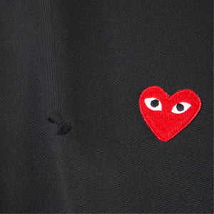 COMME DES GARCONS PLAY HOODED SWEATSHIRT BLACK