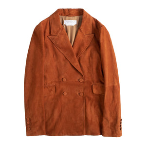 GABRIELA HEARST SUEDE BLAZER ORANGE
