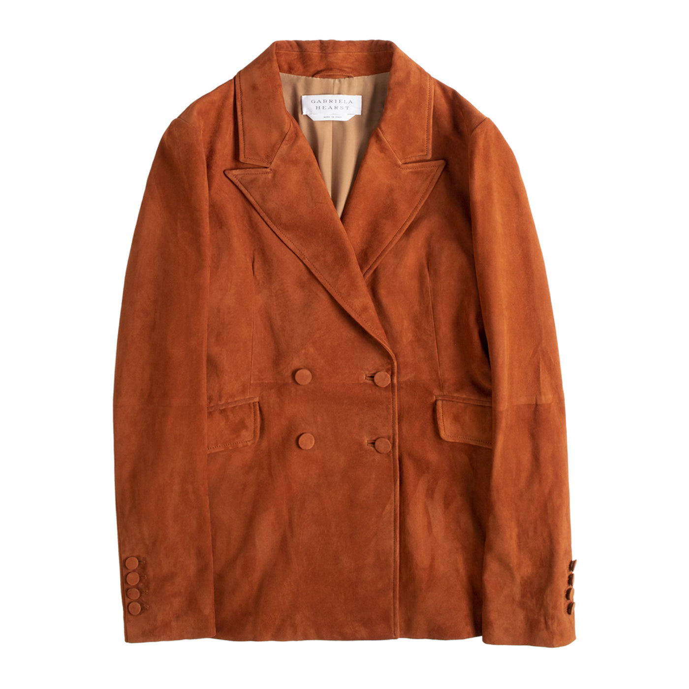 Load image into Gallery viewer, GABRIELA HEARST SUEDE BLAZER ORANGE