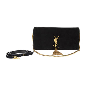 "SAINT LAURENT ""KATE 99"" CHAIN BAG BLACK"