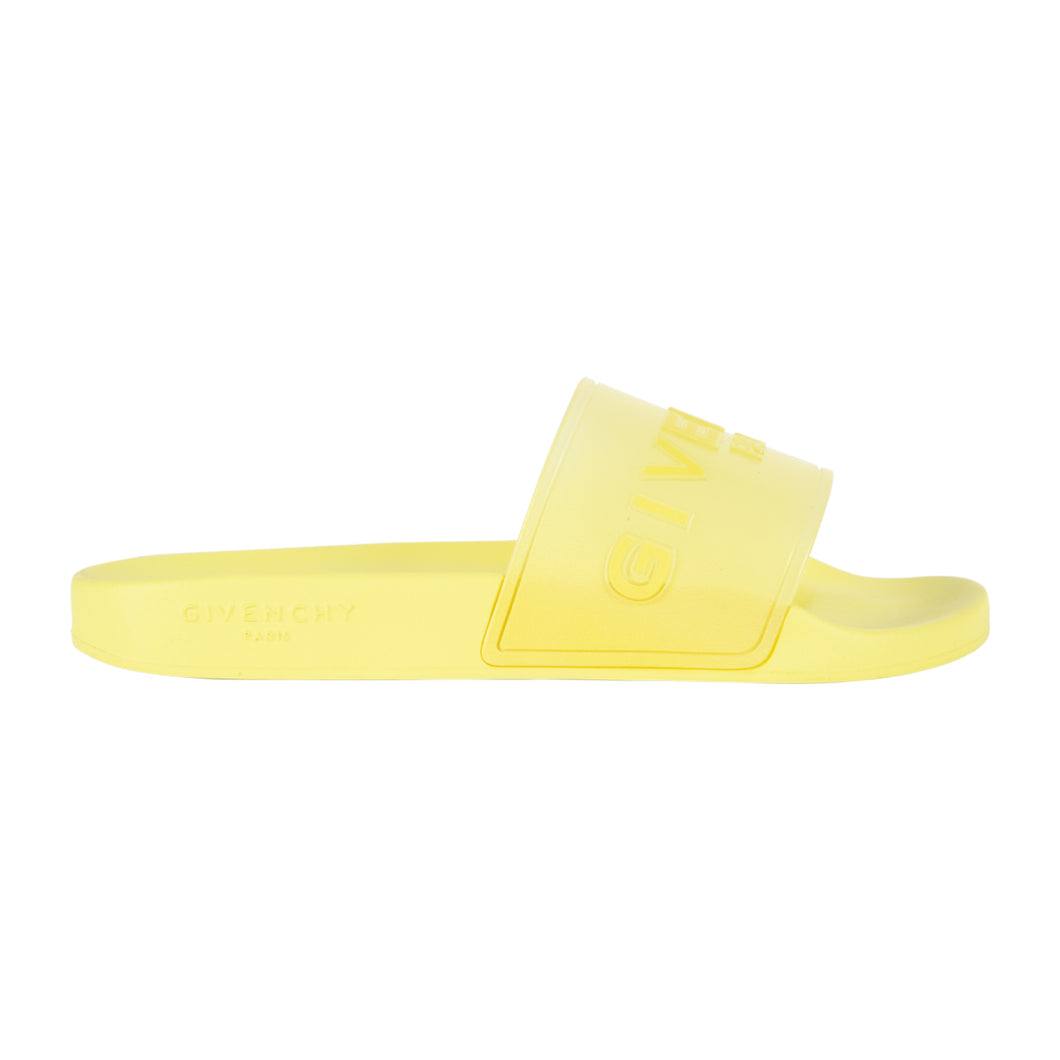 GIVENCHY CLEAR LOGO SLIDES YELLOW