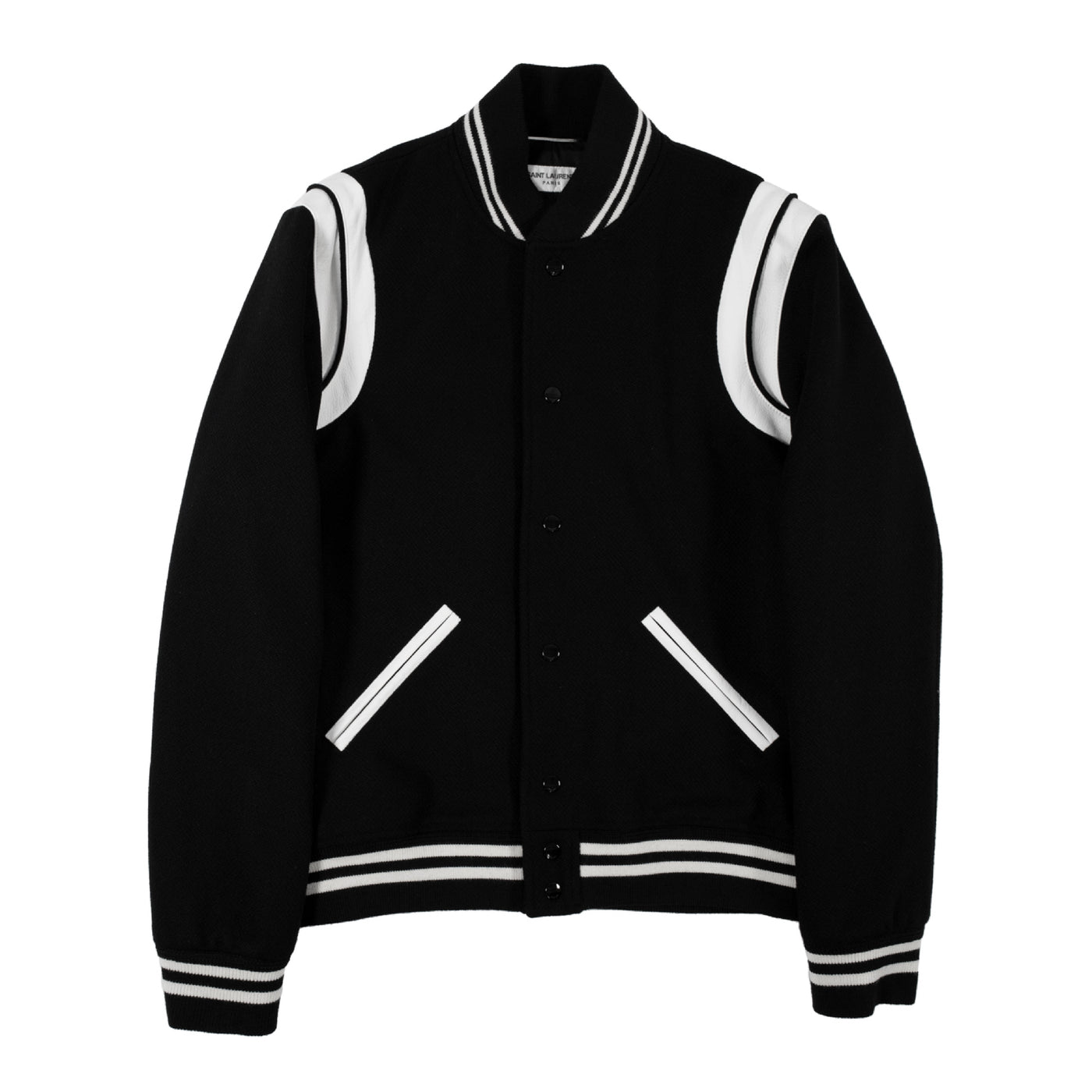 Load image into Gallery viewer, SAINT LAURENT TEDDY BOMBER JACKET BLACK