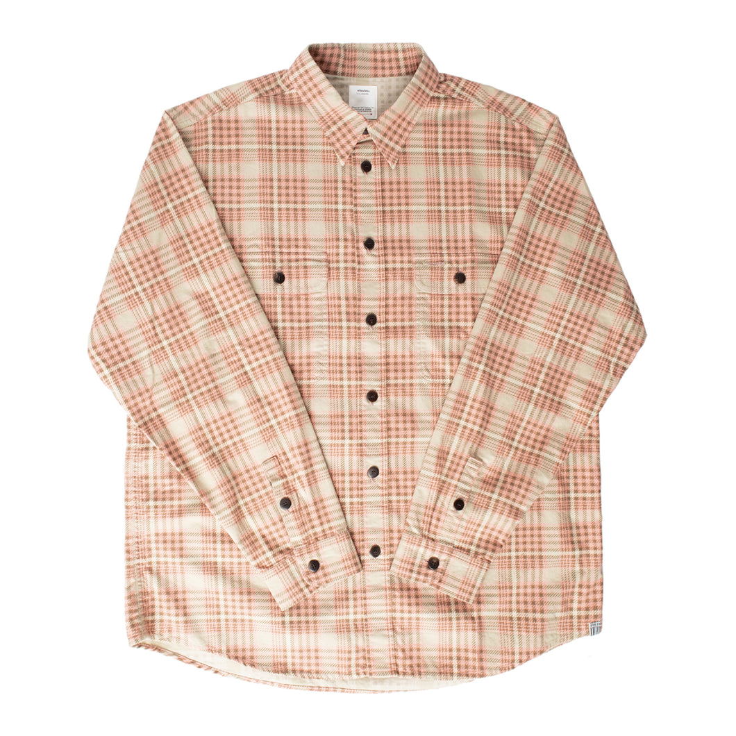 VISVIM CHECKERED BUTTON-DOWN SHIRT PINK