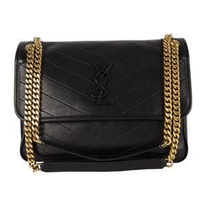 "SAINT LAURENT ""NIKI"" MONOGRAM HANDBAG BLACK"