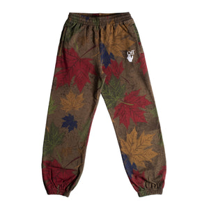 OFF-WHITE CAMO ARROW SHORTEN SWEATPANT GREEN
