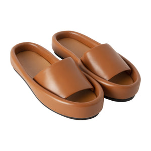 KHAITE VENICE POOL SLIDES BROWN