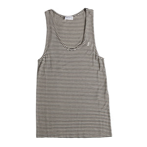 SAINT LAURENT STRIPED TANK BLACK