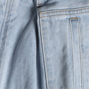 LOEWE CROPPED OVERSIZE JEANS BLUE