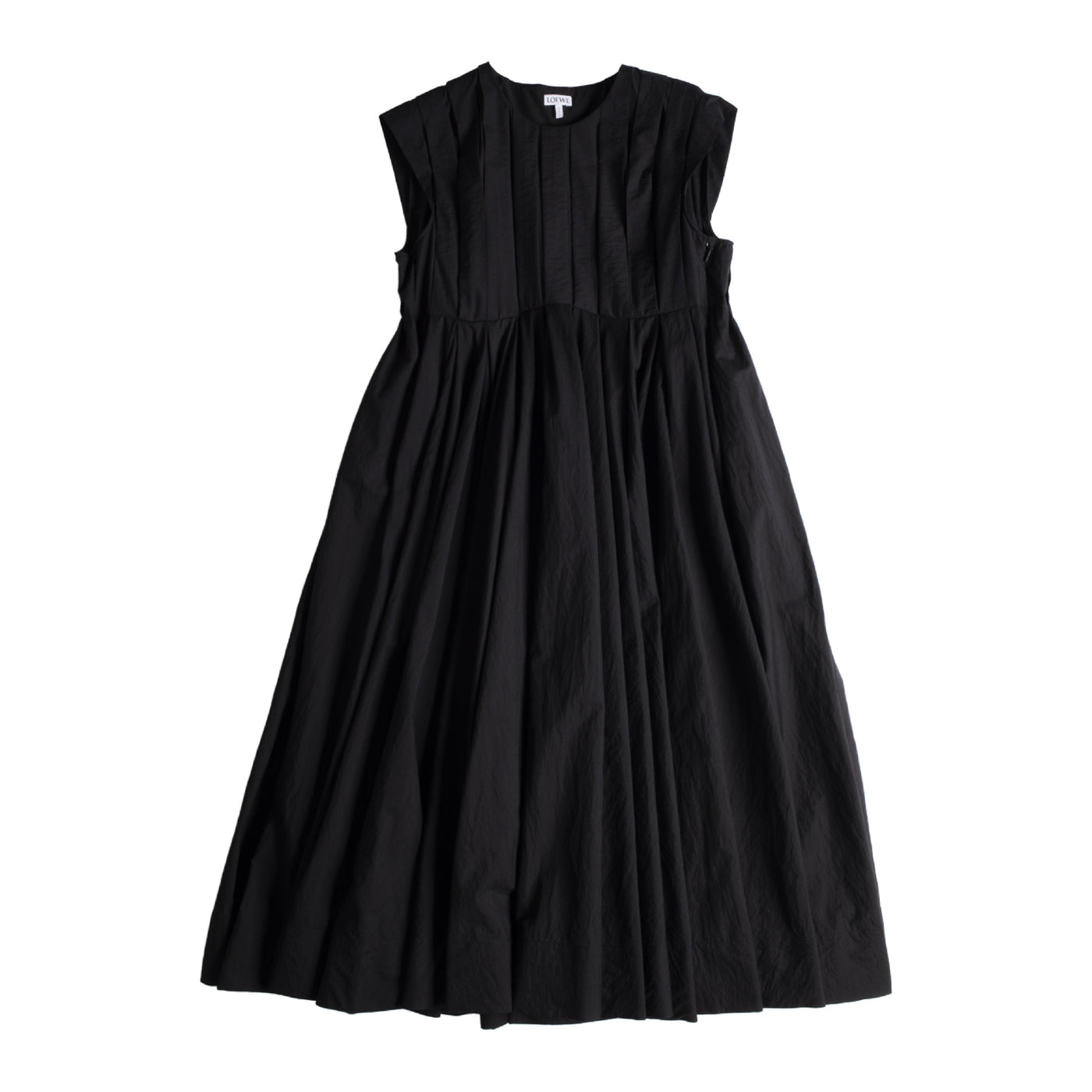 Load image into Gallery viewer, LOEWE PLEATED DRESS BLACK