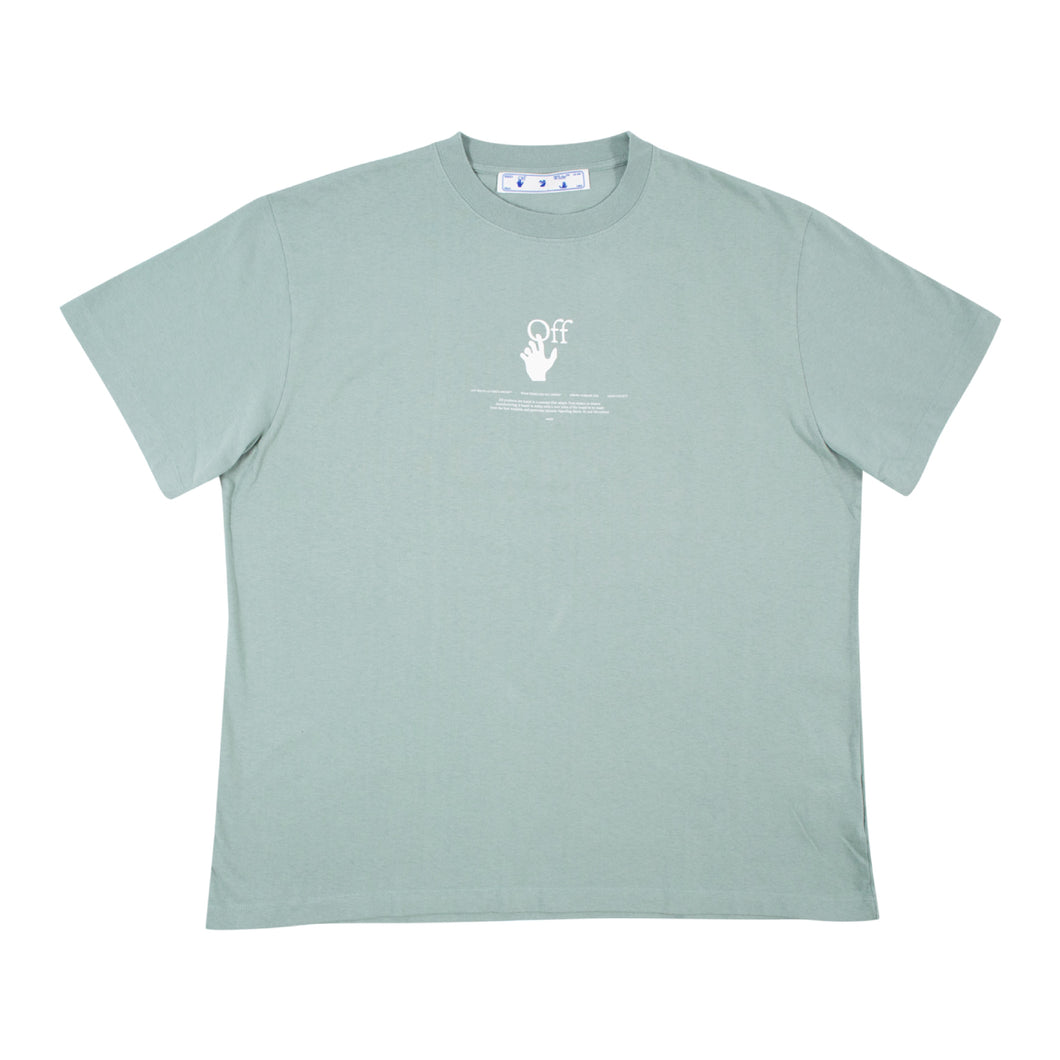 OFF-WHITE LOGO T-SHIRT GREEN