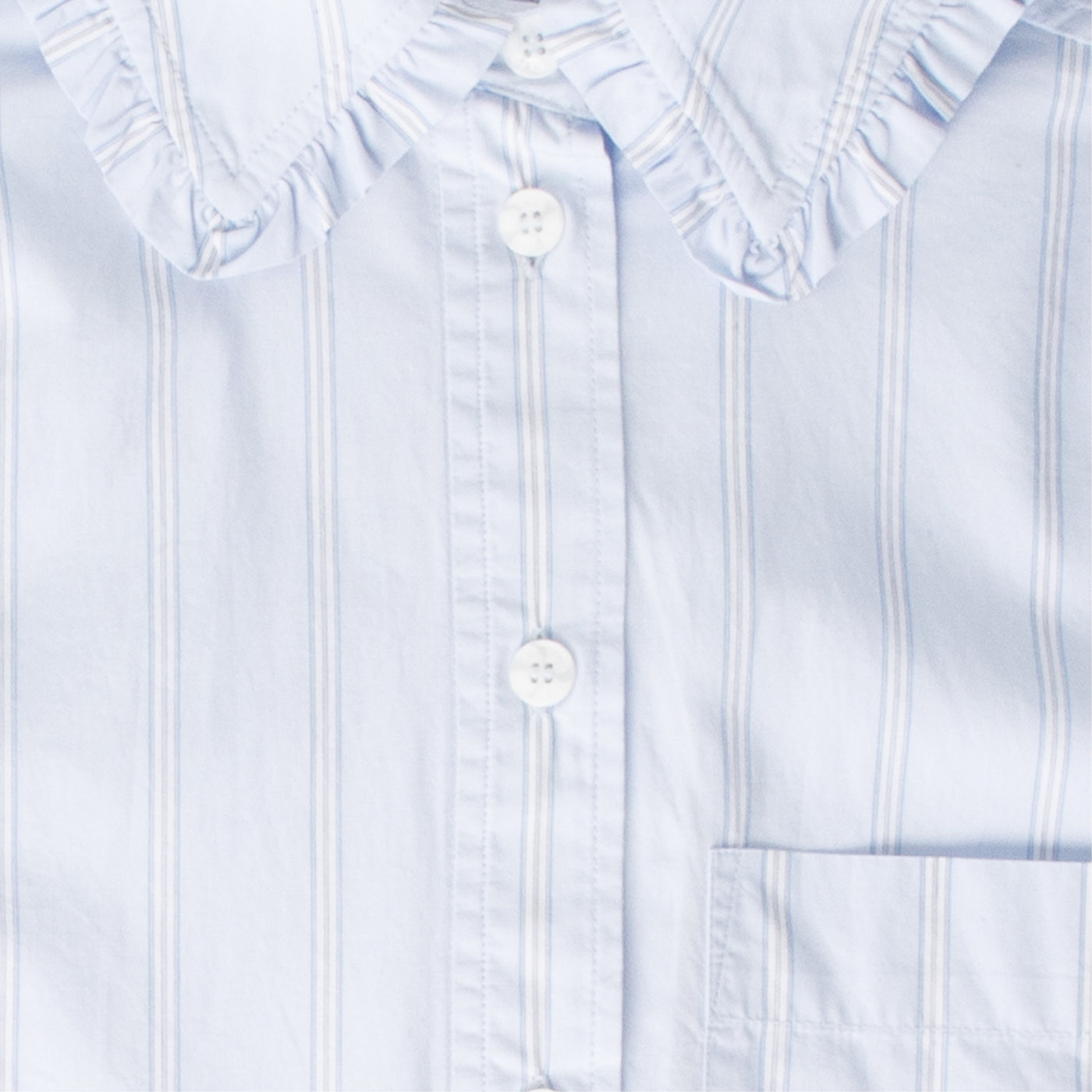 Load image into Gallery viewer, GANNI STRIPE COTTON SHIRT GREY