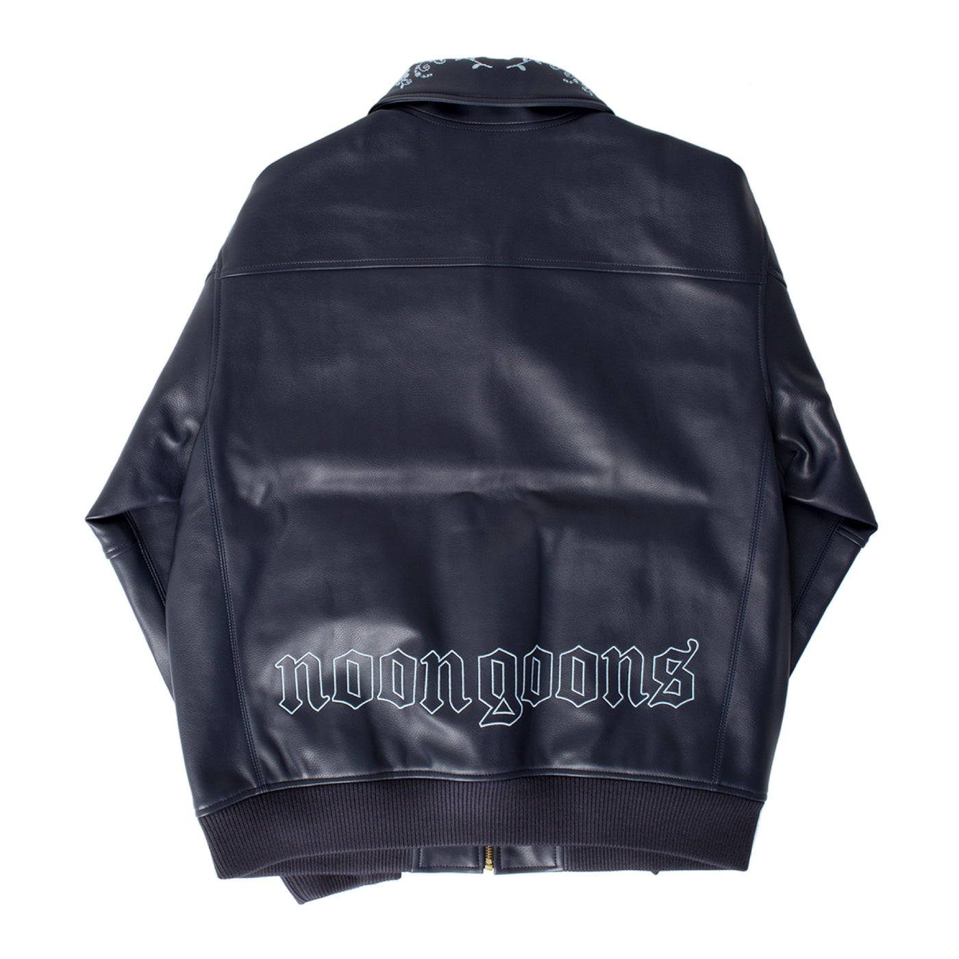 Load image into Gallery viewer, NOON GOONS FLORAL-EMBROIDERED JACKET NAVY