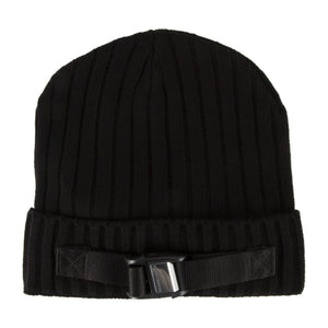 HERON PRESTON BUCKLE BEANIE BLACK