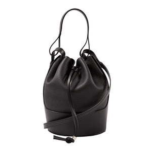 LOEWE SMALL DRAWSTRING BAG BLACK