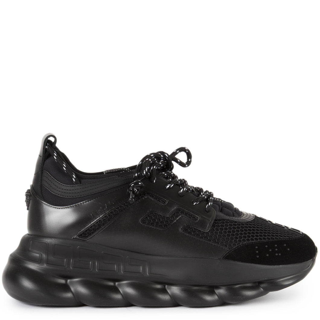 VERSACE CHUNKY TRAINER SNEAKERS BLACK