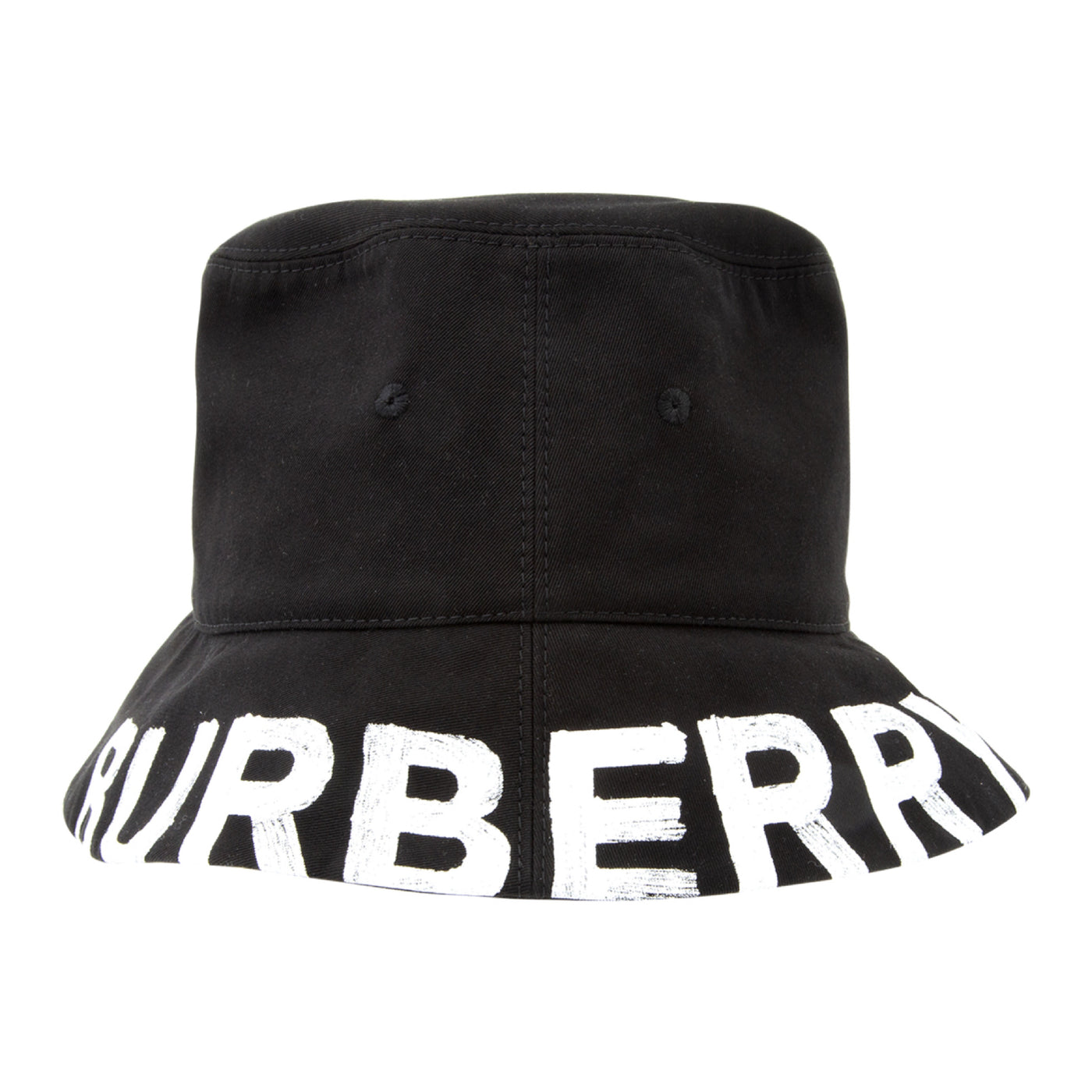 Load image into Gallery viewer, BURBERRY LOGO COTTON BUCKET HAT BLACK