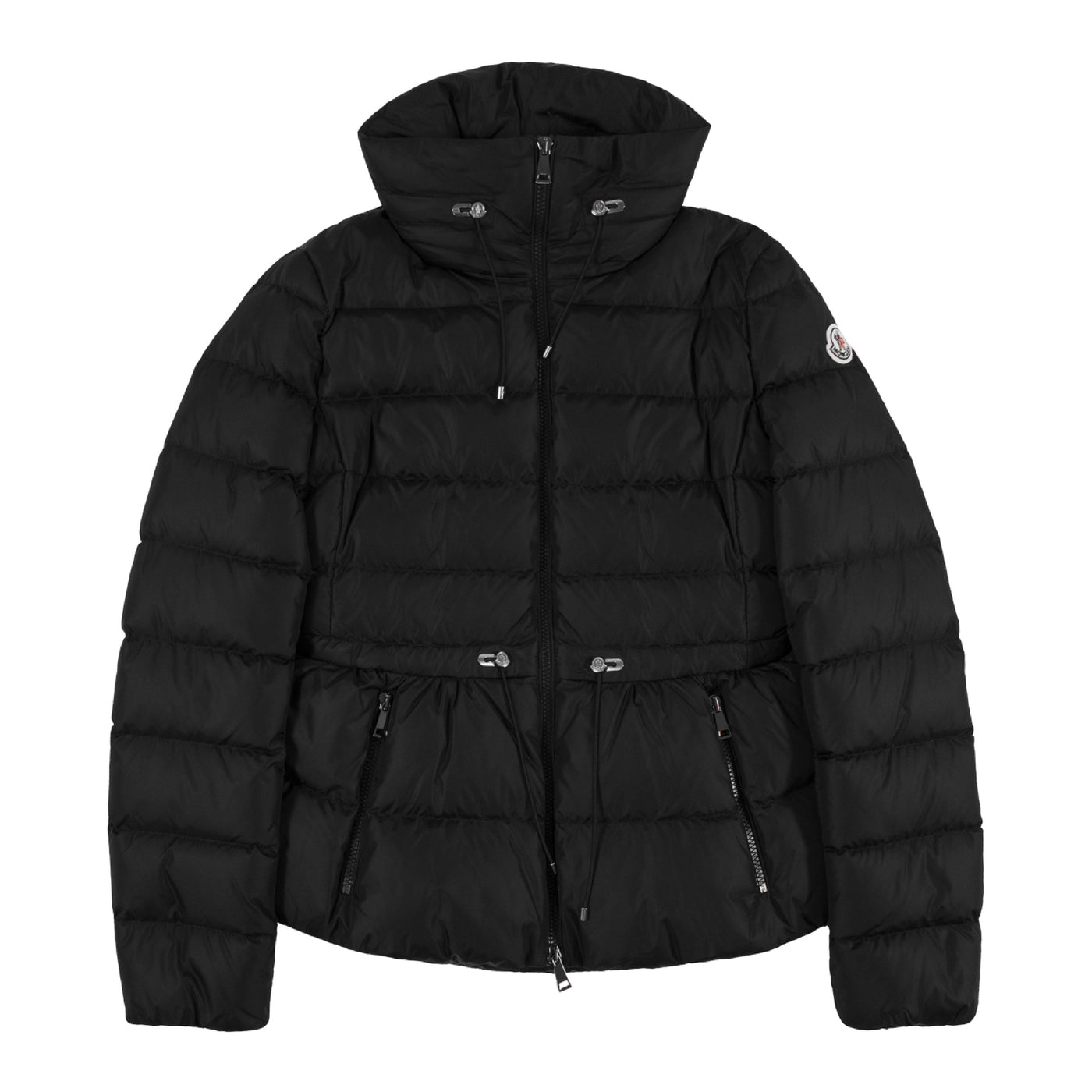 Load image into Gallery viewer, MONCLER CINCHED-WAIST PUFFER JACKET BLACK