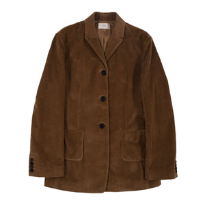 THE ROW CORDUROY JACKET BROWN