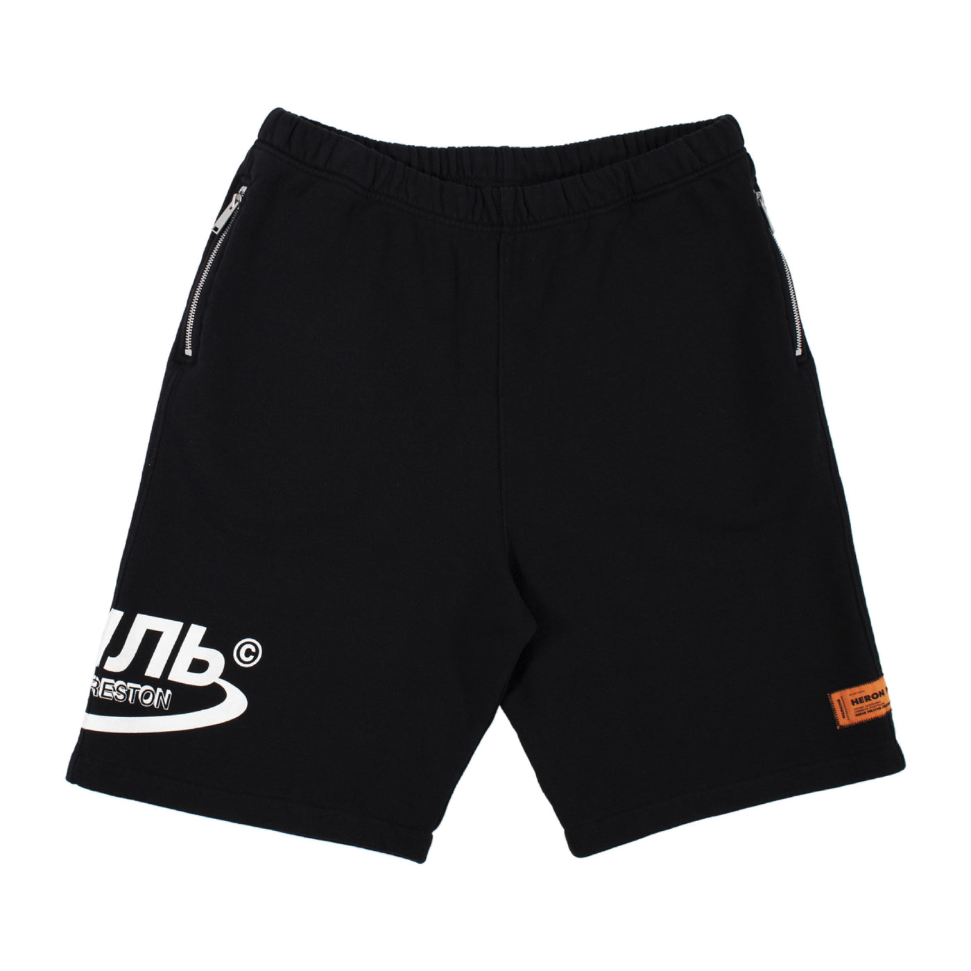 Load image into Gallery viewer, HERON PRESTON SWEATSHORTS OS CTNMB HALO BLACK