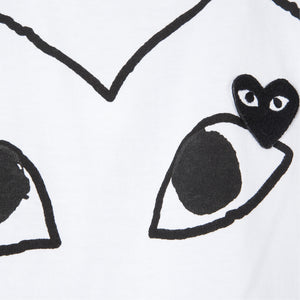 COMME DES GARCONS PLAY DOUBLE-HEART T-SHIRT WHITE
