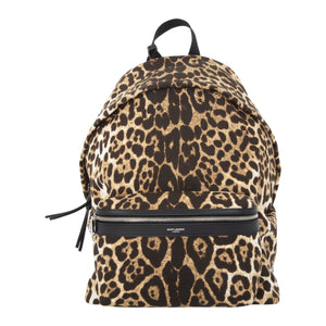 SAINT LAURENT LEOPARD BACKPACK MULTI