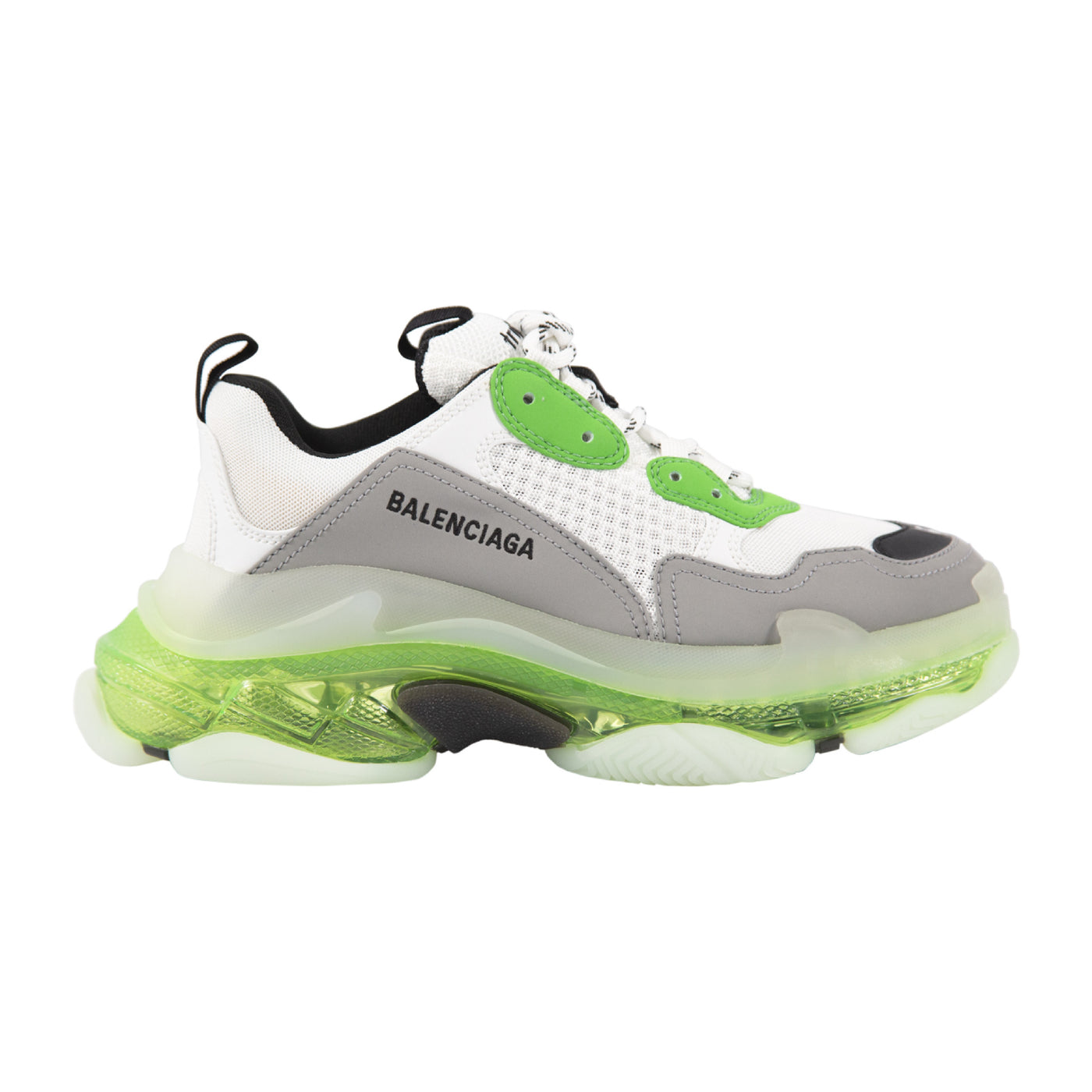 Load image into Gallery viewer, BALENCIAGA CLEAR-SOLE SNEAKERS GREEN