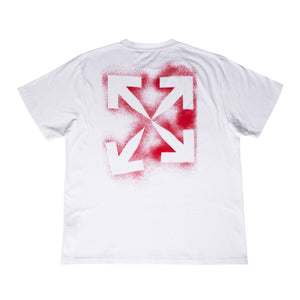 OFF-WHITE STENCIL OVER TEE WHITE