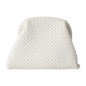BOTTEGA VENETA LARGE CLUTCH WHITE