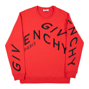 GIVENCHY REFRACTED LOGO SWEATSHIRT RED