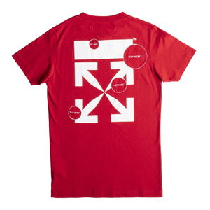 OFF-WHITE CUT HERE SLIM TEE RED