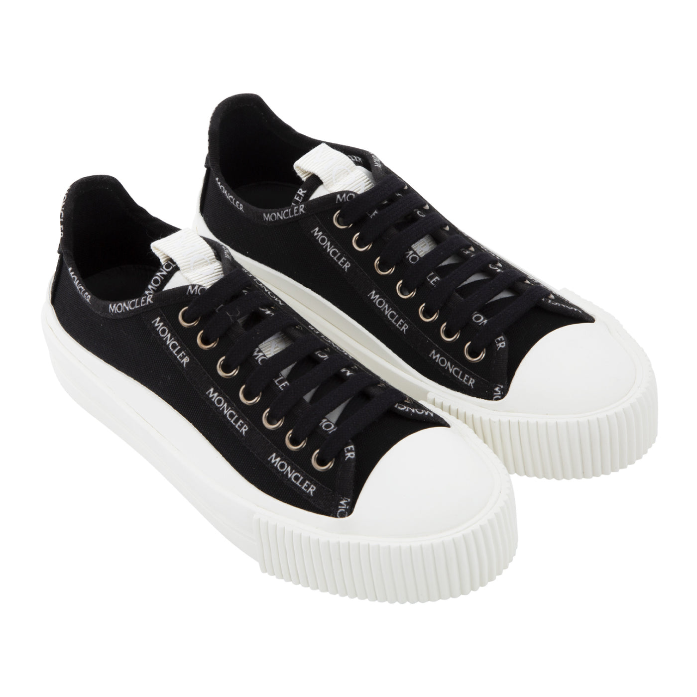 Load image into Gallery viewer, MONCLER GLISSIERE LOW TOP SNEAKERS BLACK