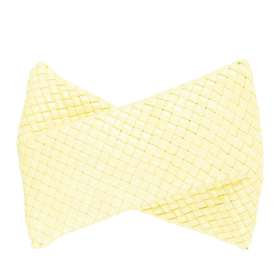 BOTTEGA VENETA TWISTED QUILTED CLUTCH YELLOW